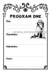 Král - program dne