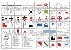 Mapové a turistické značky (tábornické pexeso)