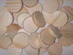 Dřevěná kolečka bez kůry - 35mm