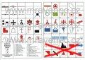 10x Mapové značky - doprodej (tábornické pexeso)