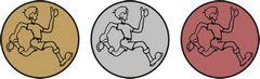 """Sada kovových medailí """"Běžec"""""""