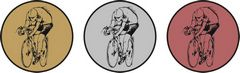 """Sada kovových medailí """"Cyklista"""""""