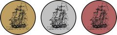 """Sada kovových medailí """"Loď"""""""