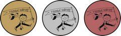 """Sada kovových medailí """"Veselé závody"""""""