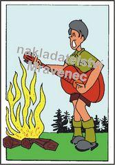 U ohně s kytarou (barevná)